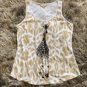 Banana Republic giraffe print tank top shirt